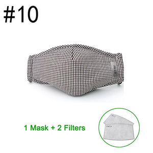 Cotton PM2.5 Face Mask anti-dust mask Activated carbon filter Windproof Face masks