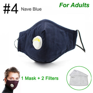 Anti Pollution PM2.5 Face Mask Dust Respirator Washable Reusable