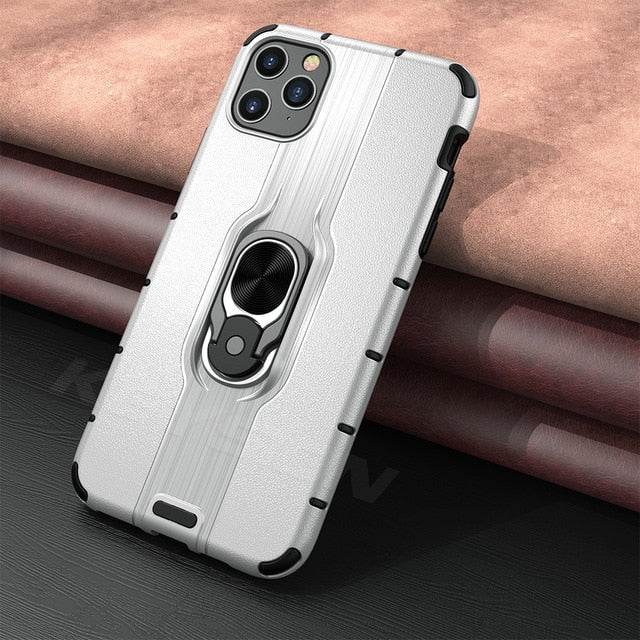 Shockproof Armor Case for IPhone with Stand Car Ring