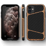 Wood Grain Carbon Fiber Texture Design Soft TPU Slim Case for iPhone