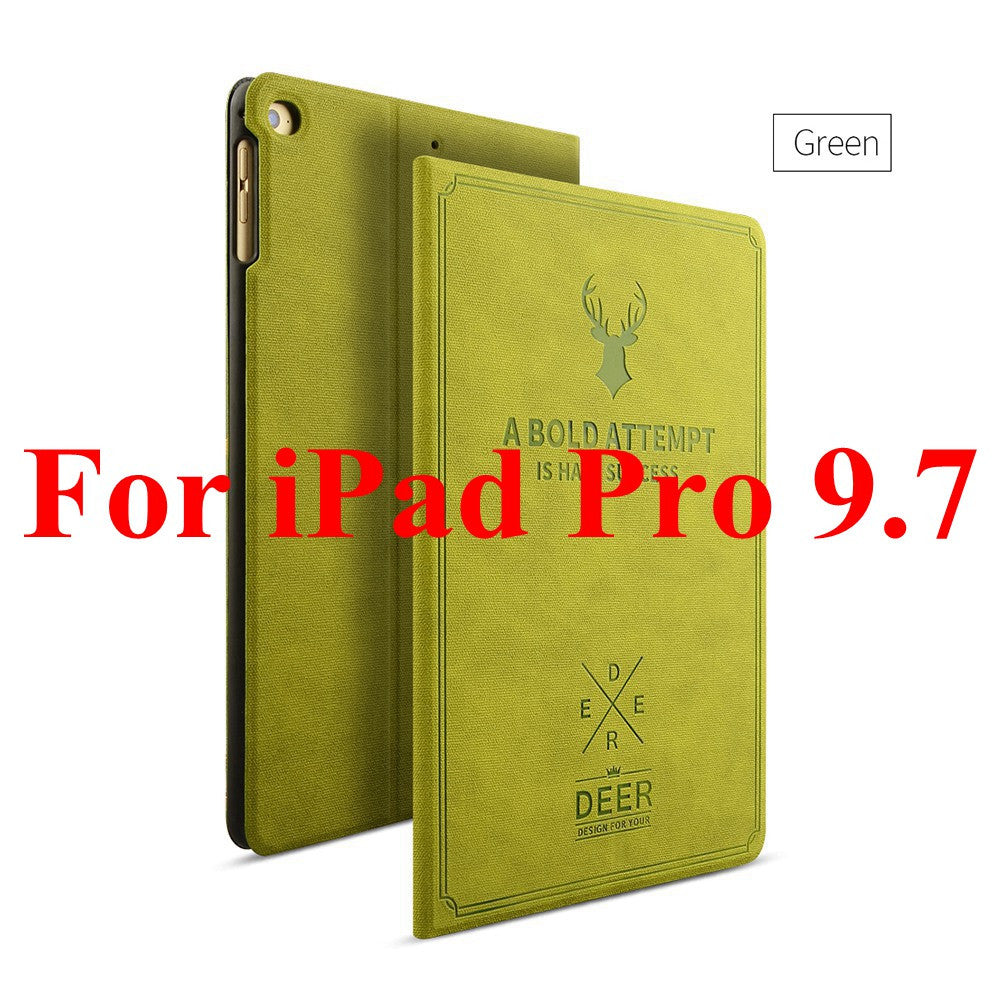Smart Wake Leather Case For iPad Pro 9.7 & iPad Air 1 2  Deer Style Stand Case