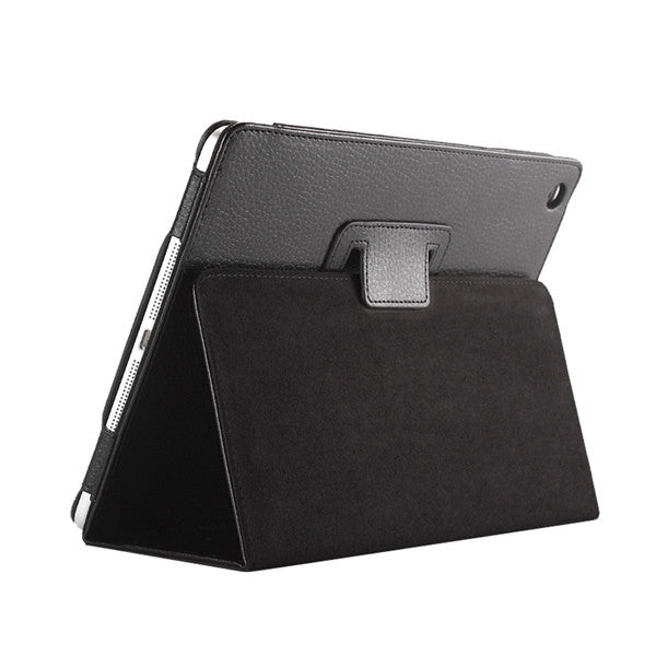 smart pu leather rotating waves flip stand case for apple ipad air 1