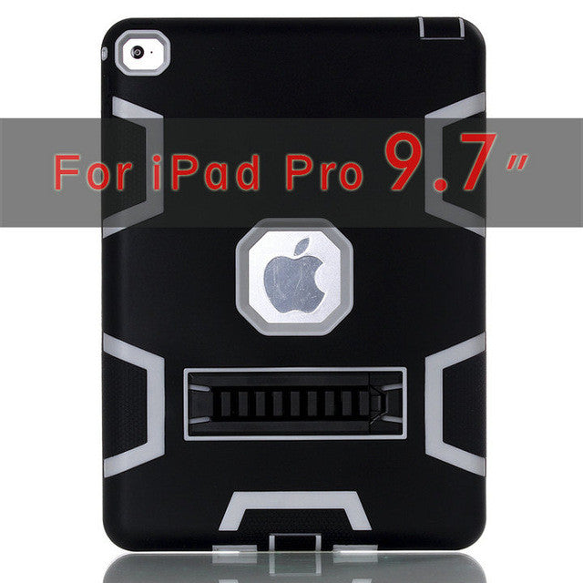 "iPad Pro 9.7"" High Impact Resistant Hybrid 3 Layer Heavy Duty Defender Cover Case"