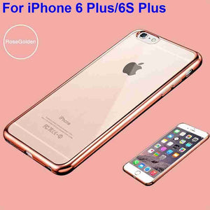 Plating Gilded TPU Case Cover for iPhone 6 6S & 6 Plus