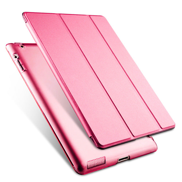 iPad 2 3 4 PU Leather Case Trifold Auto Sleep/Wake function