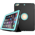 iPad 9.7inch 2017 Business/work Safe Armour Shockproof Full Body Smart Case with Built-in Screen Protector