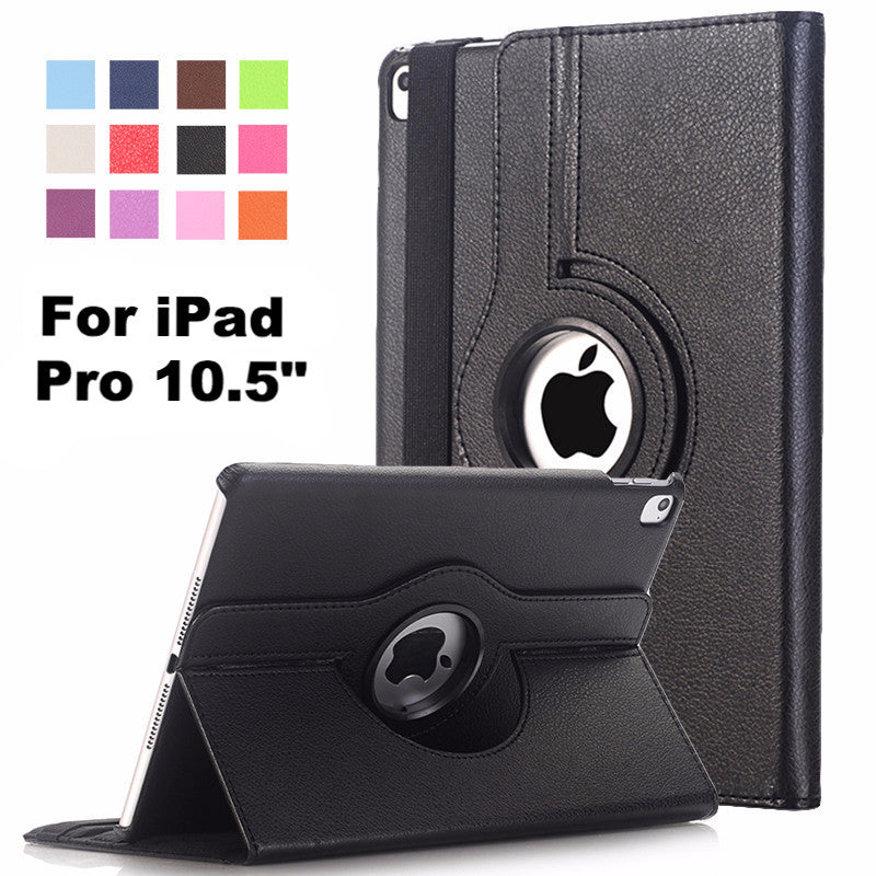 iPad Pro 10.5 inch Case PU Leather Flip Smart Stand 360 Rotating Case Cover + Stylus Pen
