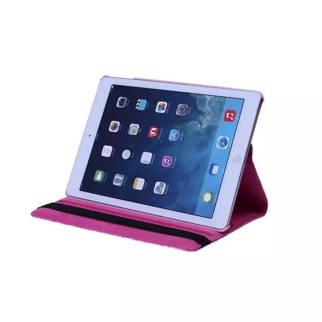 Grape Pattern PU Leather 360 Rotating Smart Stand iPad Case