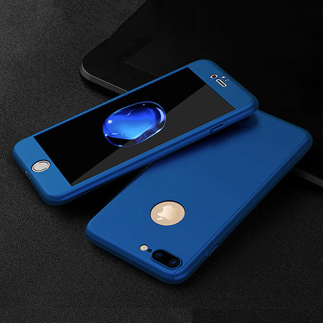 release date d989e 0f70a 360 Full Protective Case for iPhone 6 7 8 & iPhone 6 7 8 Plus with Front  Glass Film