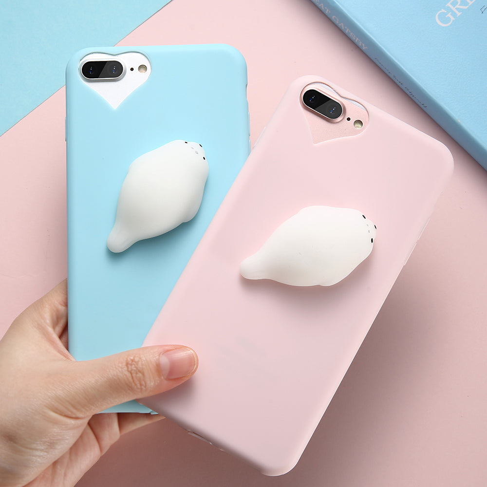 new product 7ff6f e7e32 Cute Silicon 3D Squishy Cat Cases For iPhone 5s 5 SE 6 6s Plus 7 7 Plus Case
