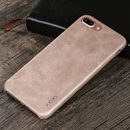 on sale 02ea0 3c8cc X-Level PU leather vintage phone case for iPhone 6 7 8 Plus X case cover