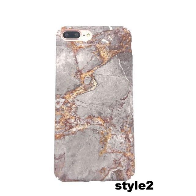 outlet store 2e3c4 aa972 Geometric Marble Hard Phone Case for iPhone Case
