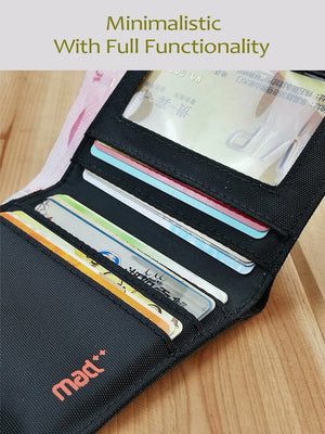 Minimalist Wallet for Men Women Ultra-Slim Nylon Wallet