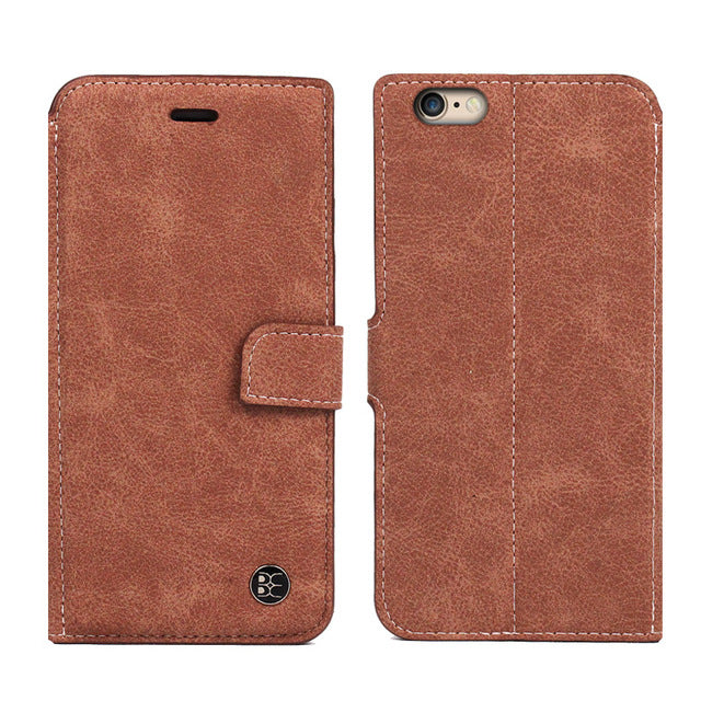Card Slot Vintage Wallet Leather Case for iPhone 6 6S / 6 6S Plus