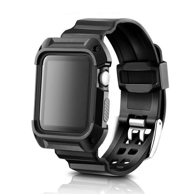 Rugged Armor Protective Case with Strap Bands for Apple Watch