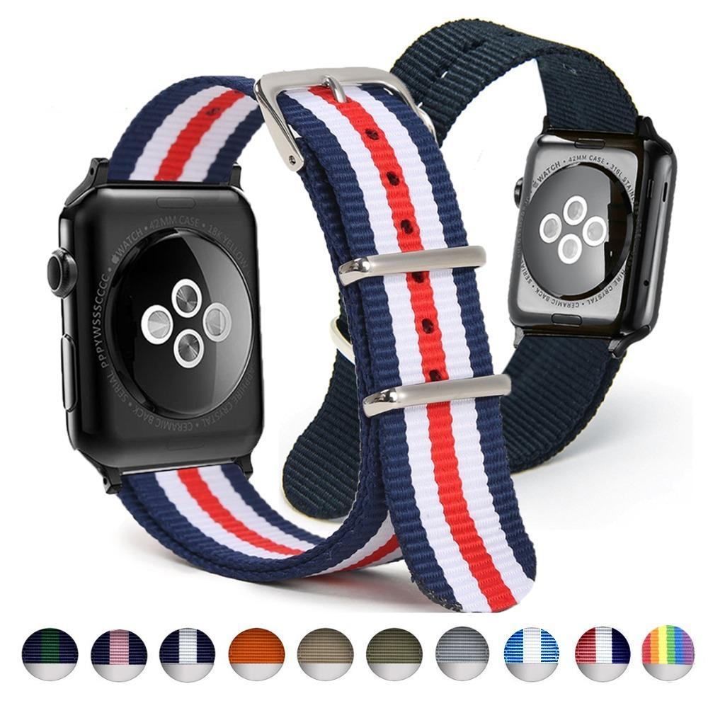 Woven Nylon Apple Watch Band 42mm 38mm Nylon Strap