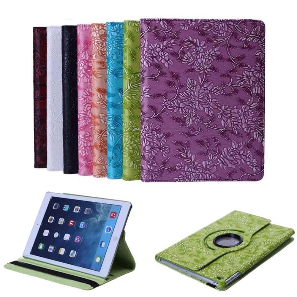 iPad mini 1  2 3 grape pattern 360 PU Leather Rotating Smart Stand Tablet Case
