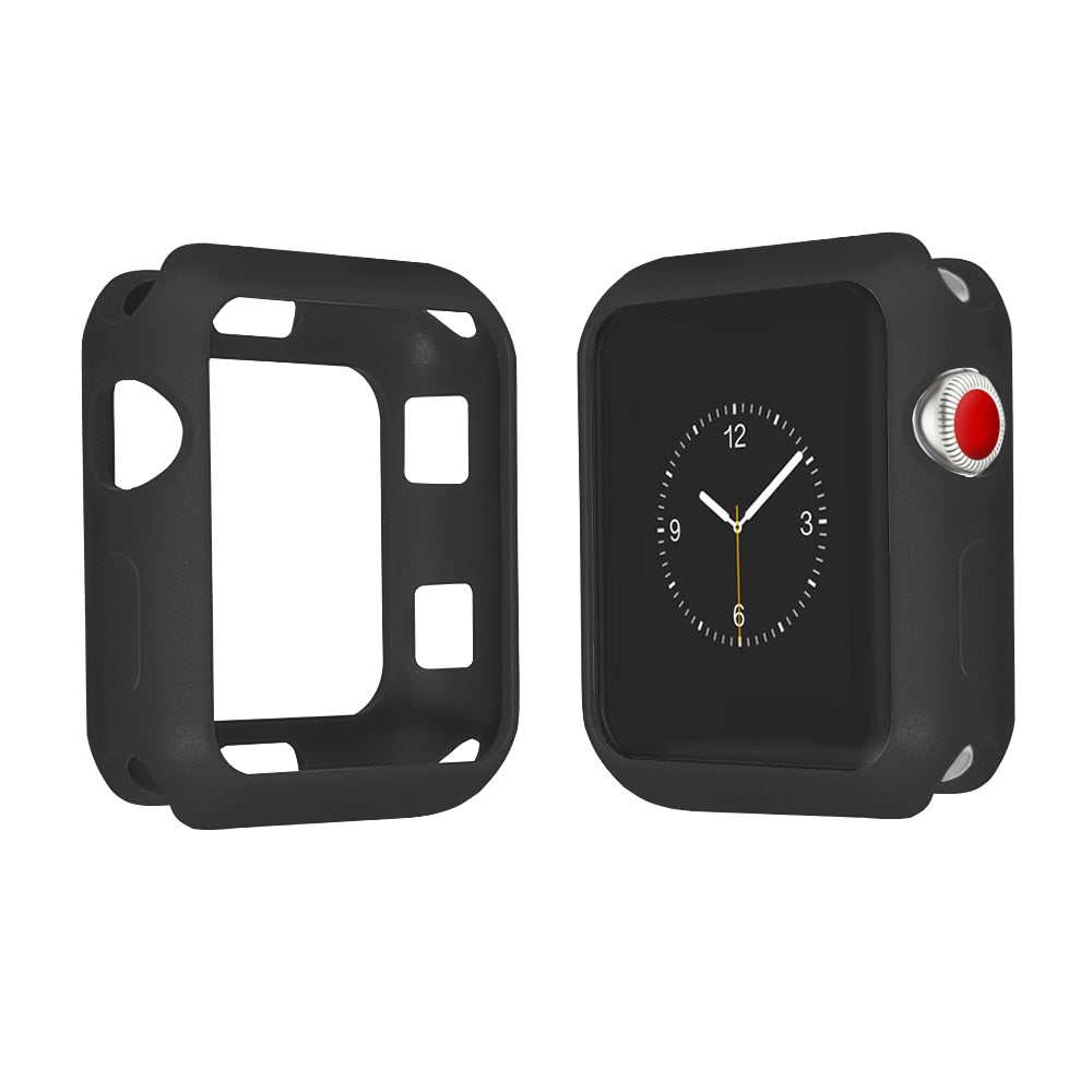 Resistance Soft Silicone Case For Apple Watch Series 1234 Full Protection