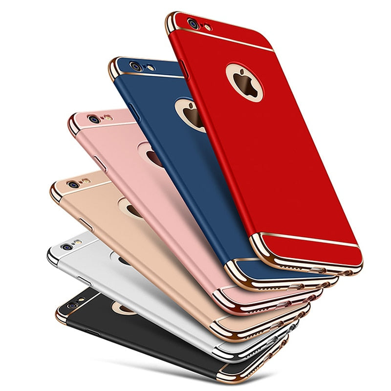 new styles b3be5 85a7f Ultra-thin Shockproof Armour Plated 360 Protection Case for iPhone
