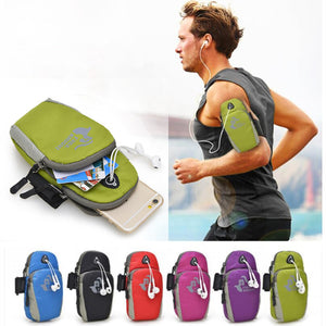"5.7"" Universal Running Armband Case for iPhone 7 6 6S Plus Nylon Sport Bag"