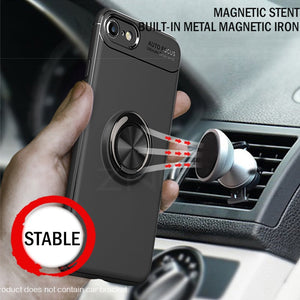 Magnetic Ring Stand Case for iPhone TPU Cover Cases