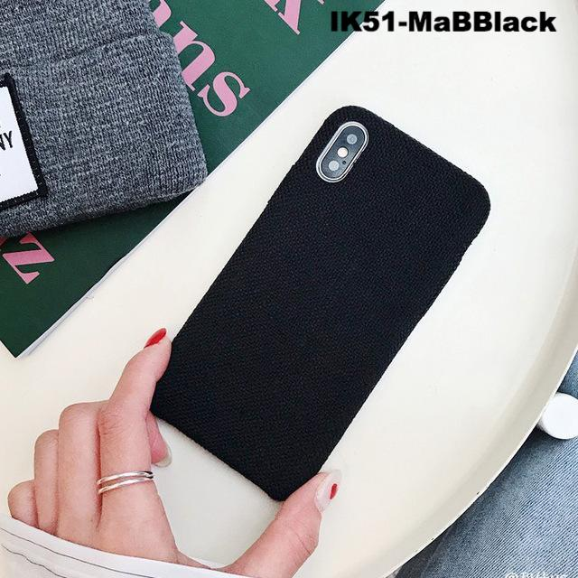 Cloth Texture Soft TPU case For iPhone X Xs Xr Max Ultra-thin Canvas Silicone Cover