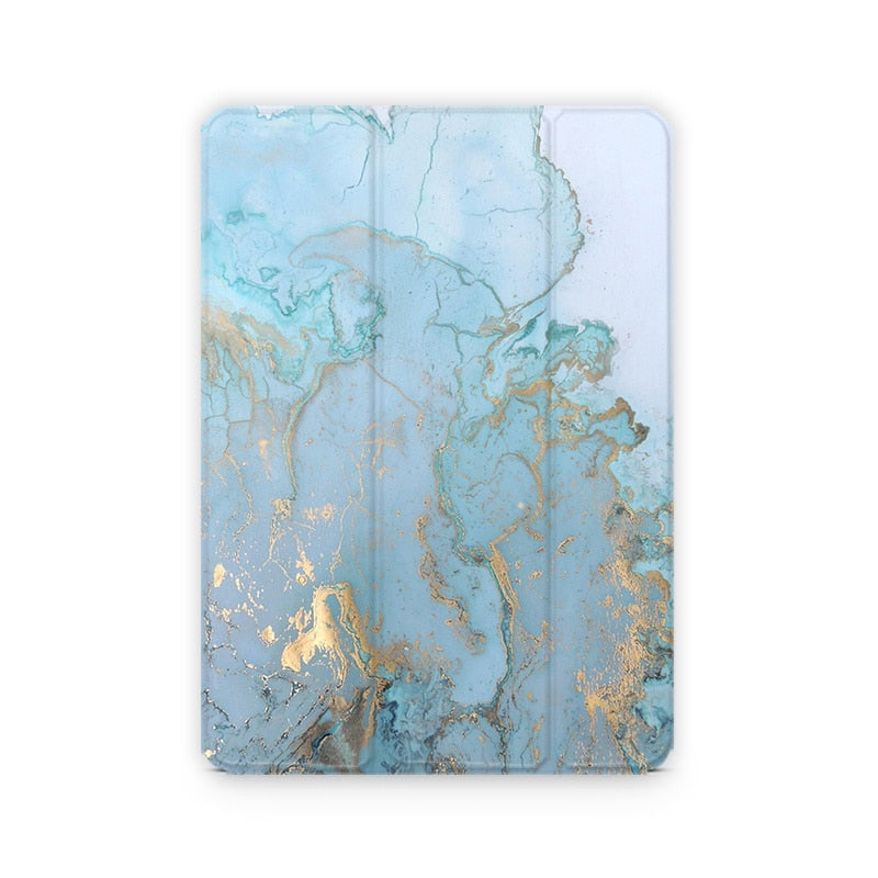 Marble Design Magnetic Flip Cover For iPad model