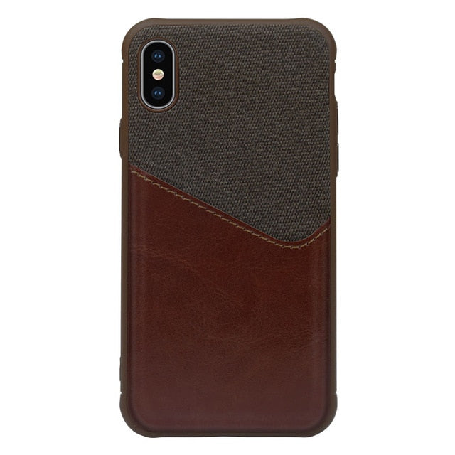 Luxury PU Leather Wallet Case for iPhone with Credit Card Slot Holder Cover