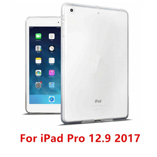 iPad Silicon Clear Transparent Case Soft TPU Back Case