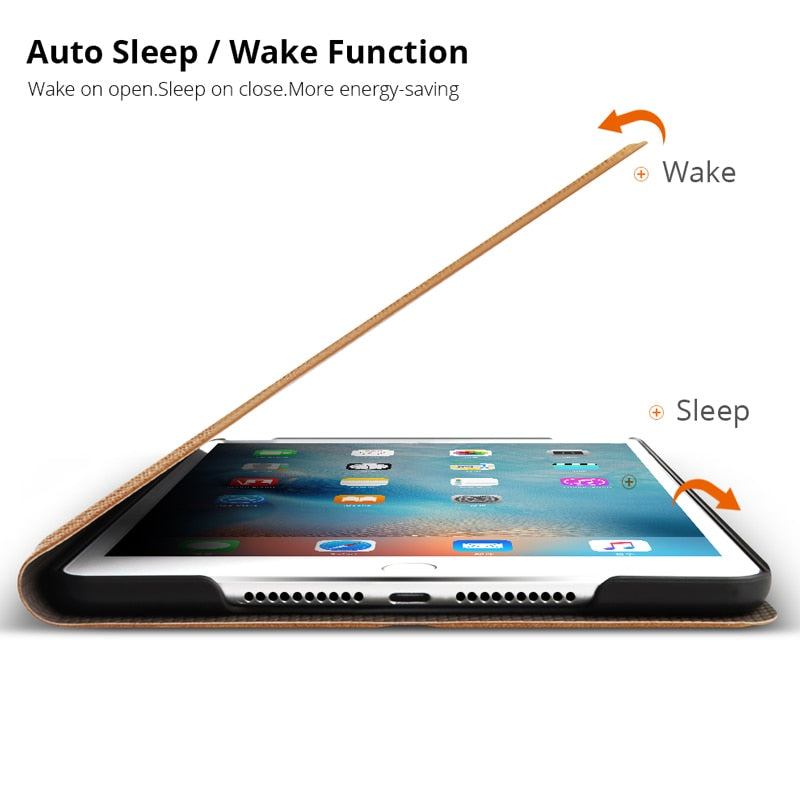 iPad 2 3 4 Stand Magnetic Smart Cover Auto Sleep/Wake PU Leather case