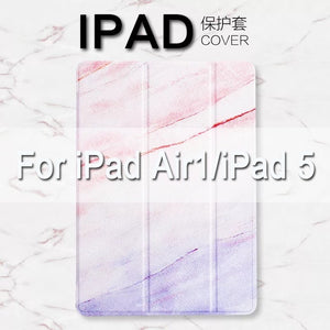 Marble Pattern Magnetic Flip Stand Cover For iPad