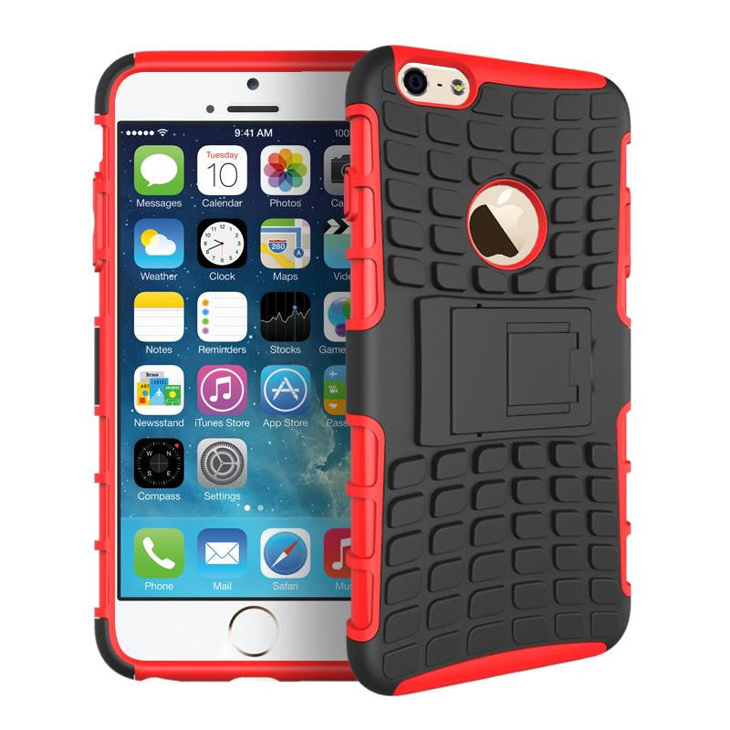 iPhone 6 6S Heavy Duty Armour Shockproof Hard Silicone Rubber Case - iPhone Accessories - iPhone 6 Case | iPhone 6S Case - 3
