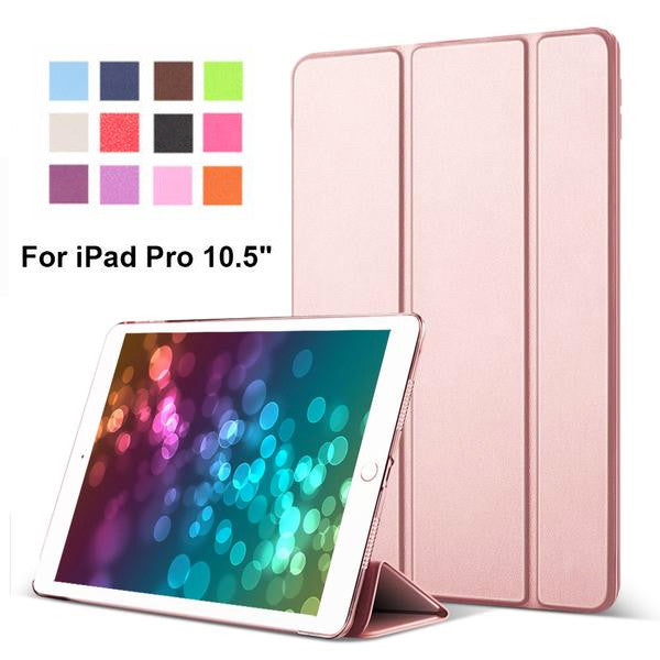 b7acfdd94571 iPad Pro 10.5 inch PU Leather Front Cover + Transparent PC Ultra Slim Smart  Case