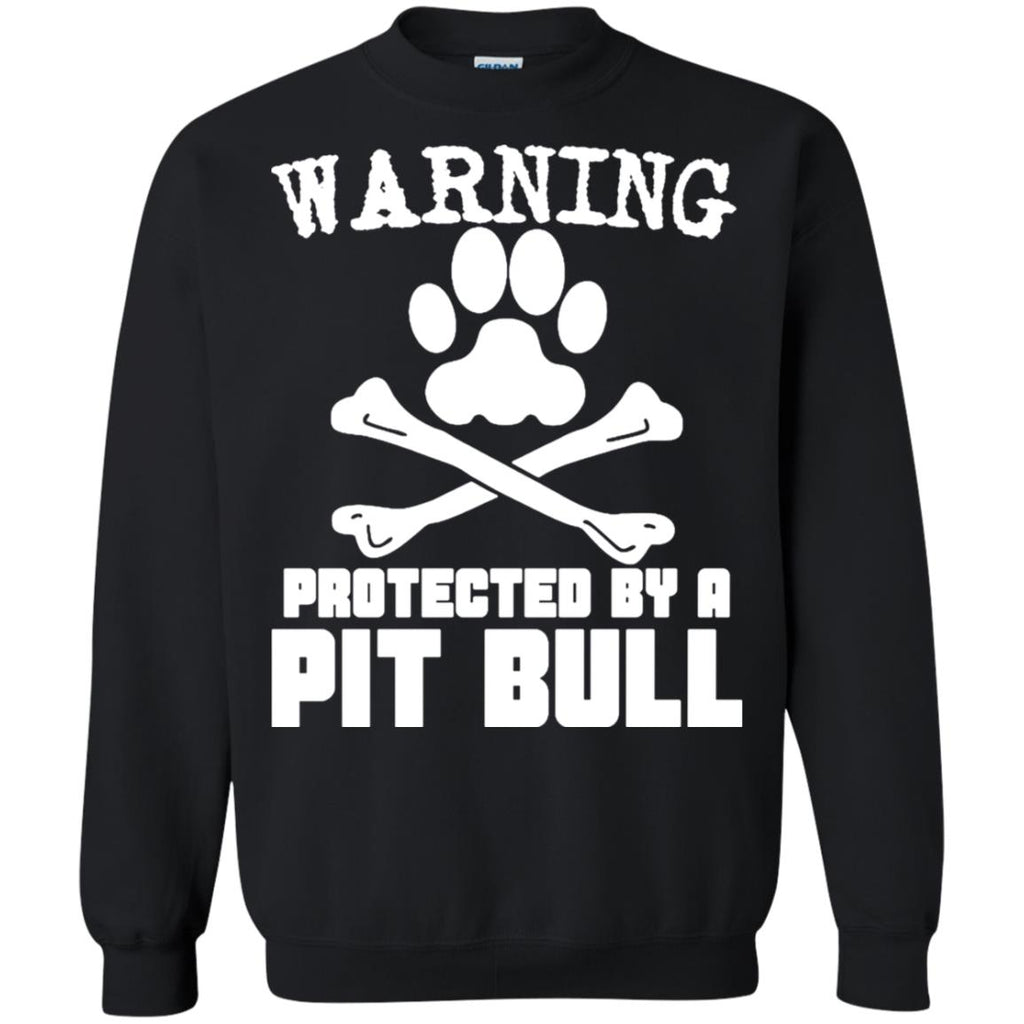 18e26387 ... Dogs T-Shirts Hoodie Ugly Christmas Sweater Warning Protected By A Pit  Bull ...