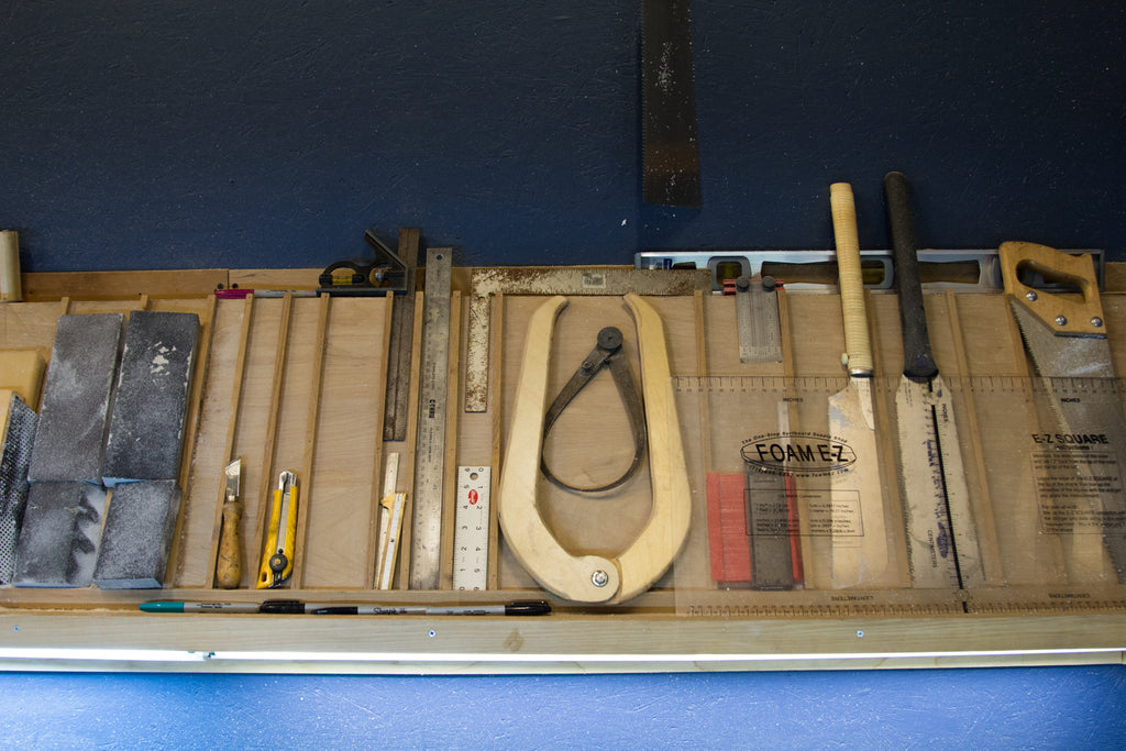 Kevin's tools, Spirare Surfboards workshop
