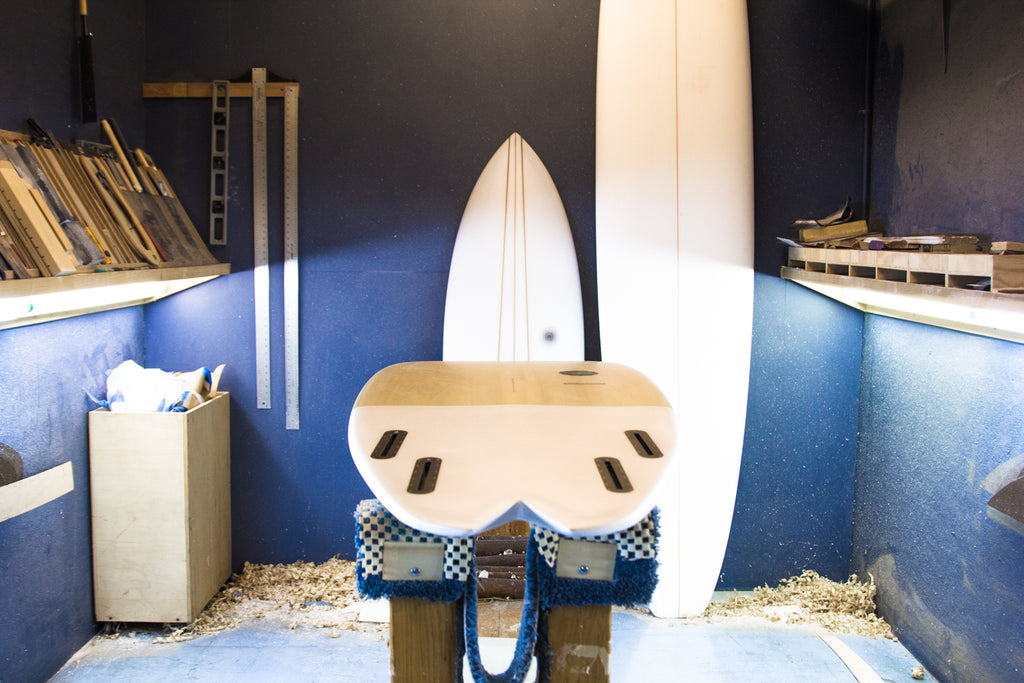 Split Arc Tail Quad by Kevin Cunningham of Spirare Surfboards