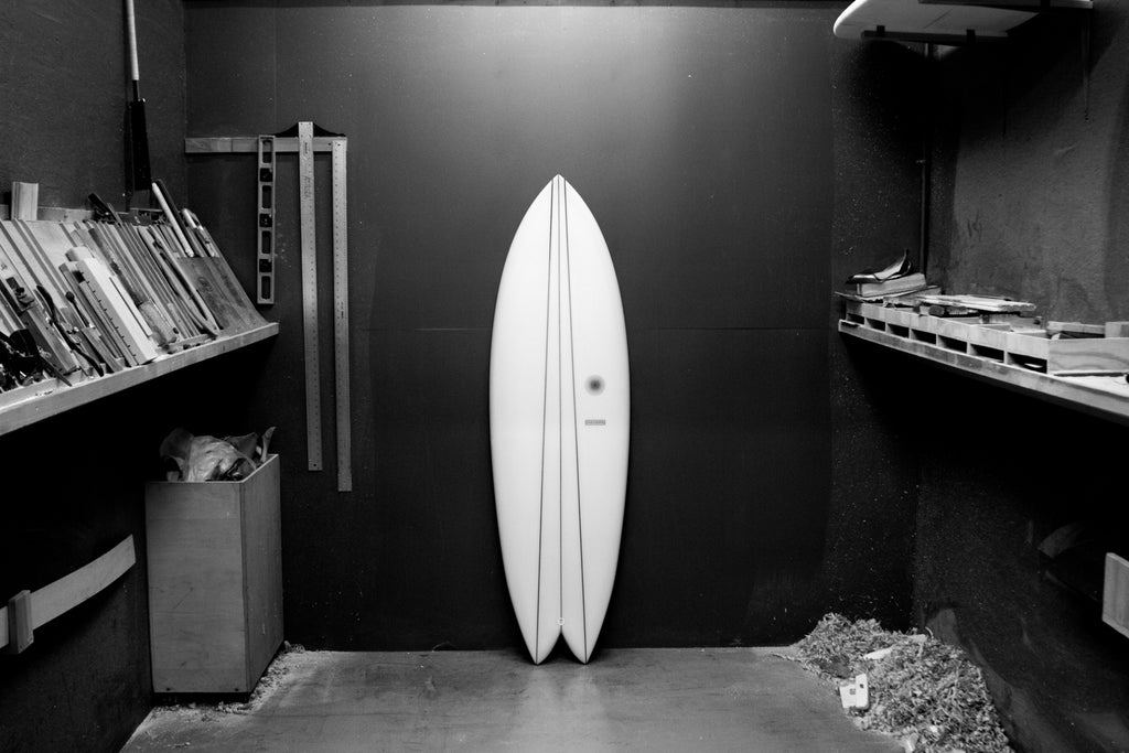 Twin Keel surfboard by Kevin Cunningham of Spirare