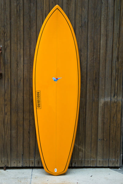 Rodeobird Quad Diamond Tail Surfboard Handshaped Deck