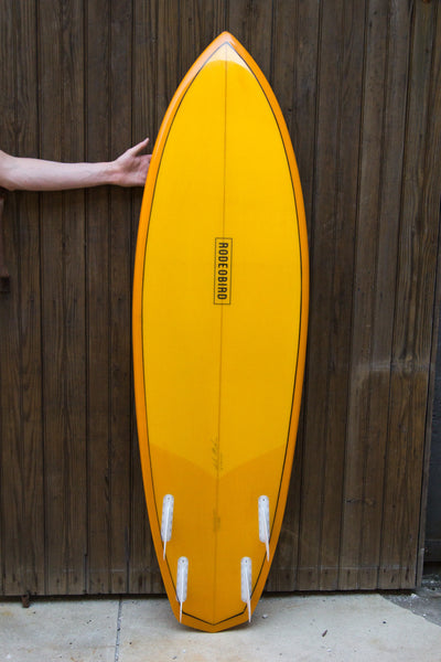 Rodeobird Quad Diamond Tail Surfboard Handshaped Bottom