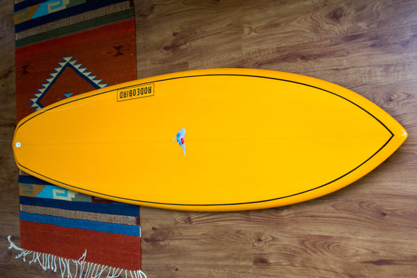 Rodeobird Quad Diamond Tail Surfboard Handshaped