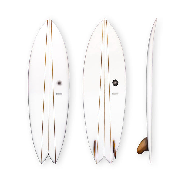 Cedar Twin Fish by Kevin Cunningham of Spirare Surfboards