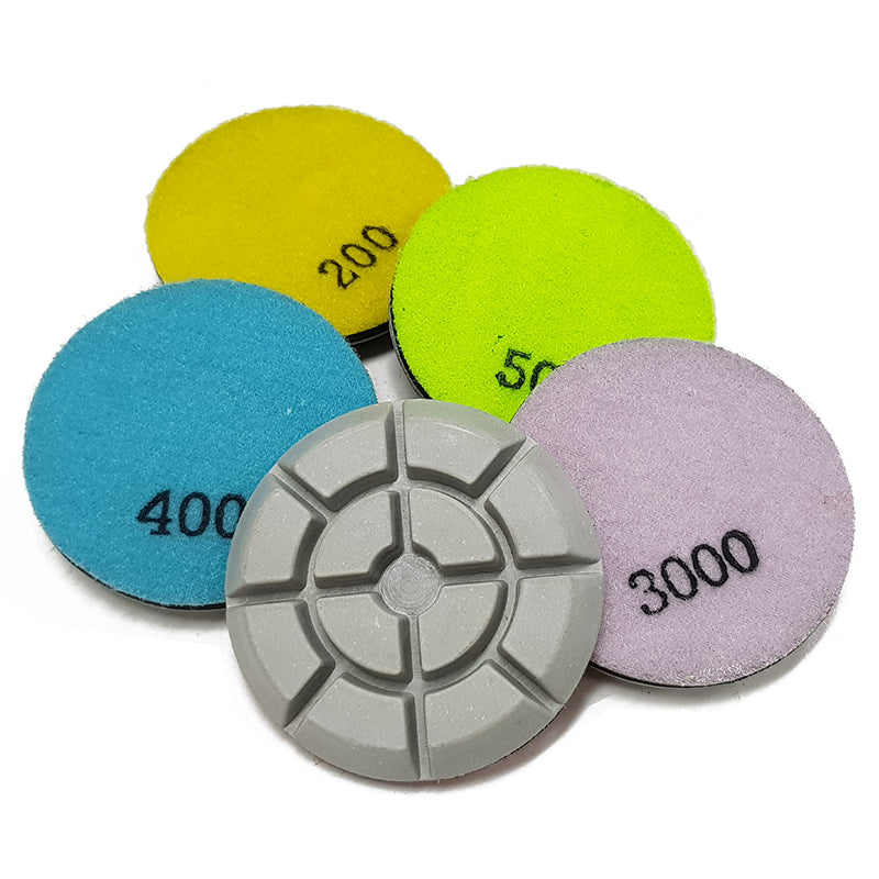 Traxx SUPER Resin Polishing Pads - WHITE -WET/DRY - QTY of 9