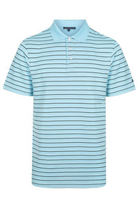 38 South Polo - Mens Stripe Cooldry