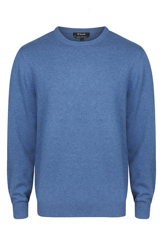 38 South Sweater - Mens Cotton/Cashmere Crew Neck