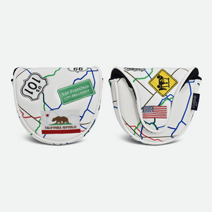 PRG Originals, Route 66, Mallet Putter Cover - White