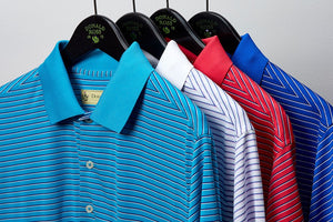 Donald Ross Micro Shadow Stripe Jersey
