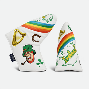 PRG Originals, Lucky Charm, Blade Putter Cover - White