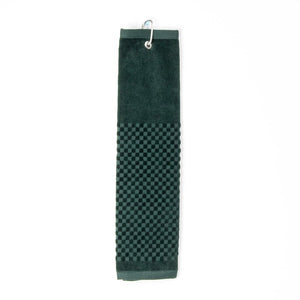 PRG Tri-Fold Cotton Golf Towel - Hunter Green