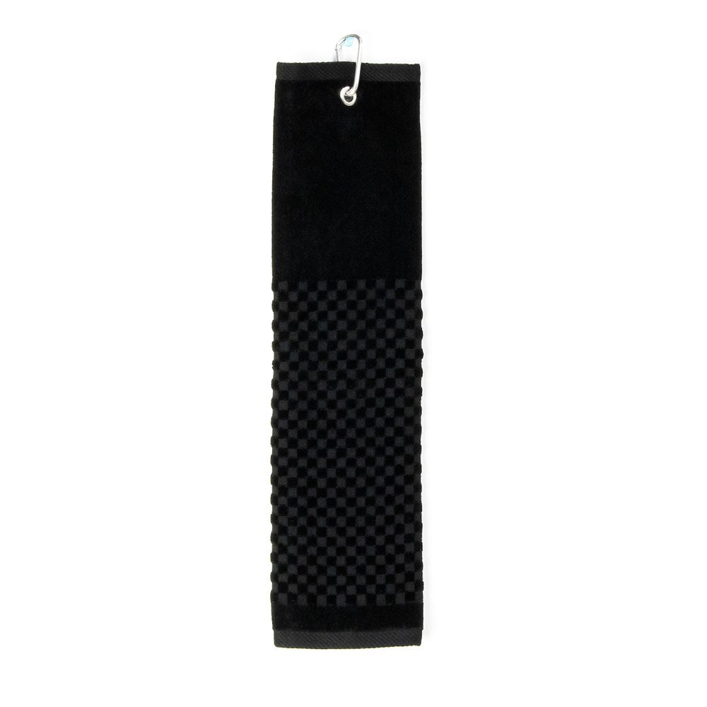 PRG Tri-Fold Cotton Golf Towel - Black