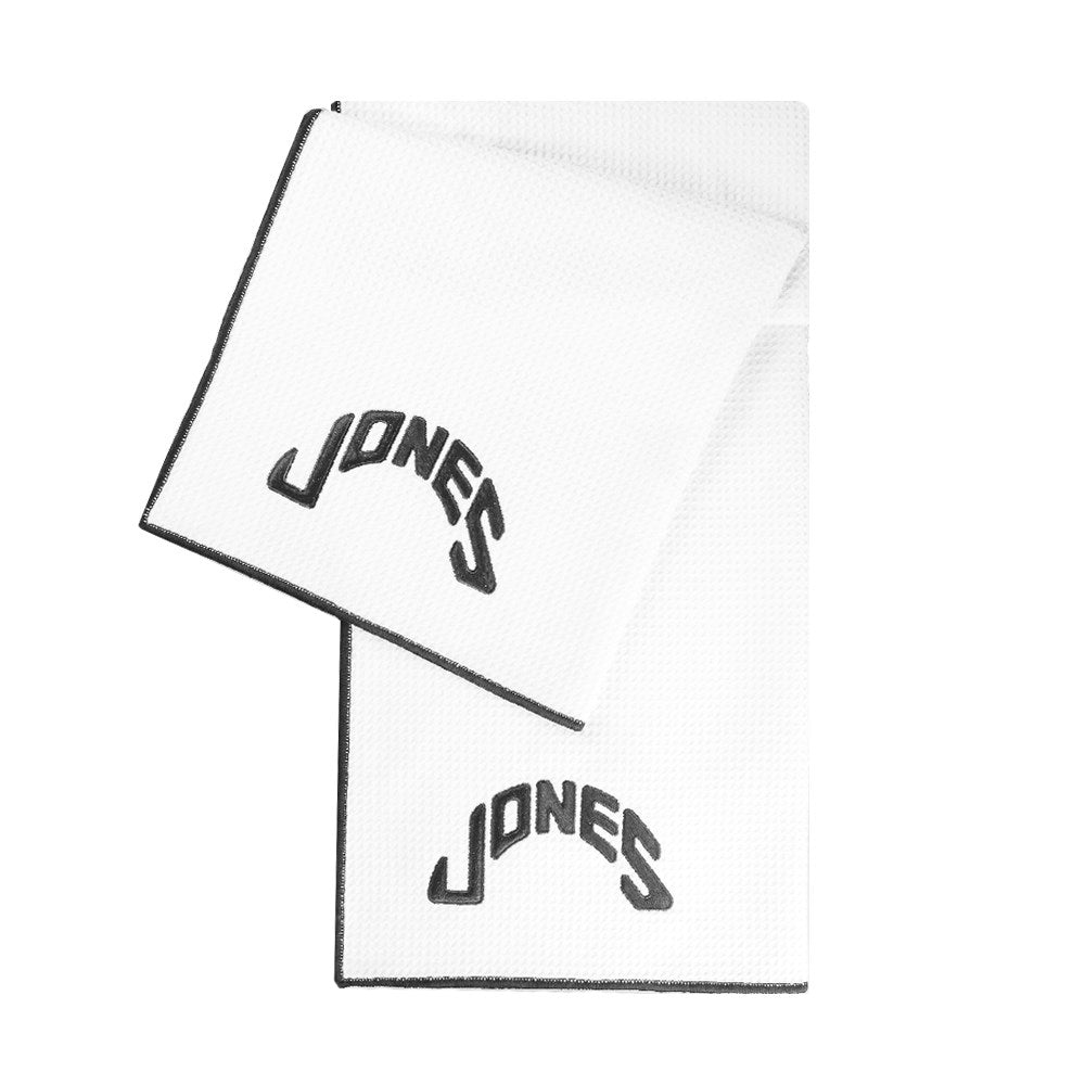 Jones Caddy Golf Towel - White/Black